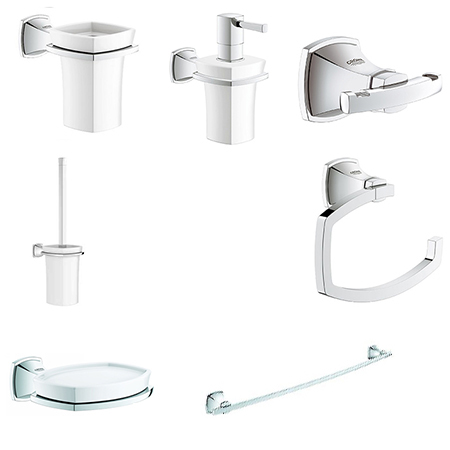 Grohe bathroom accessories best home design 2018 for Bathroom accessories grohe