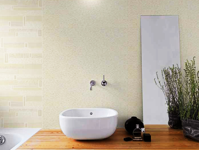 Wall Tiles Syramyk Ktr Kafood Ceramics - Beige-bathroom-tiles