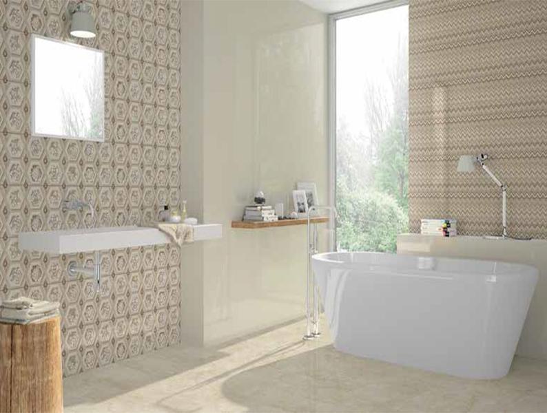 Lucca Beige Bathroom Tiles