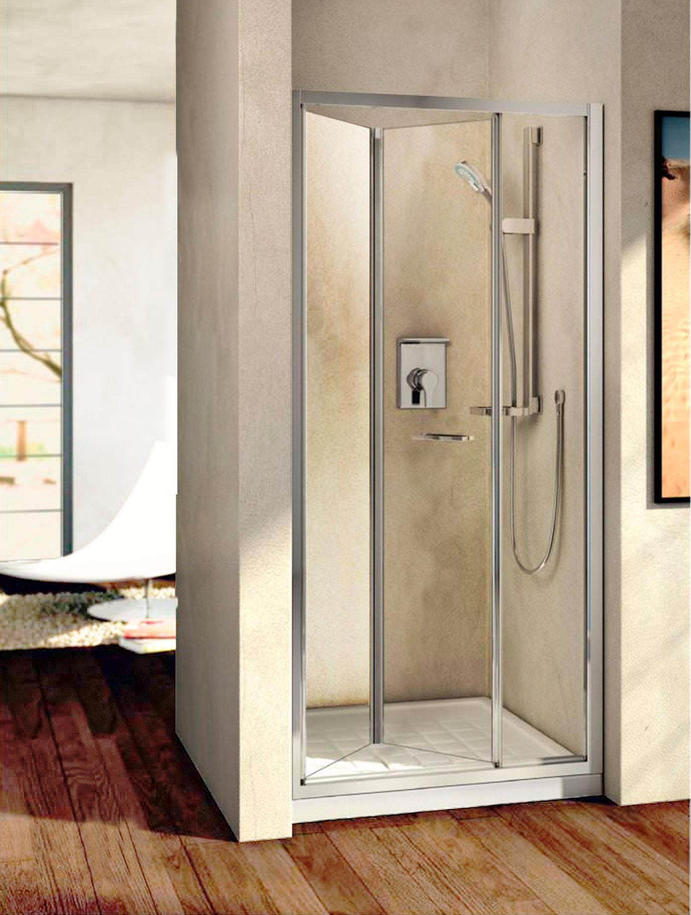 Bi Fold Shower Door Beatris Aica 800mm Chrome Walk In Bi